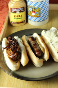 { Try These Beer-Boiled Brats for Oktoberfest AND Winner of our September Giveaway!!}