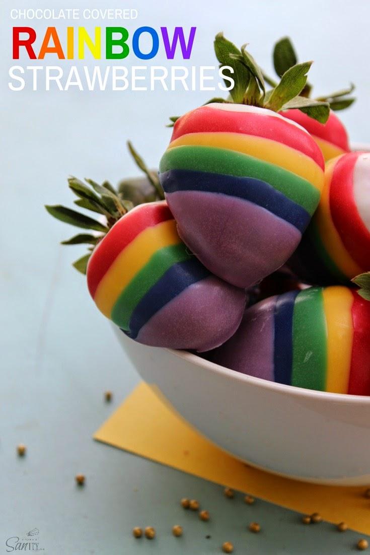 Rainbow Strawberries pin