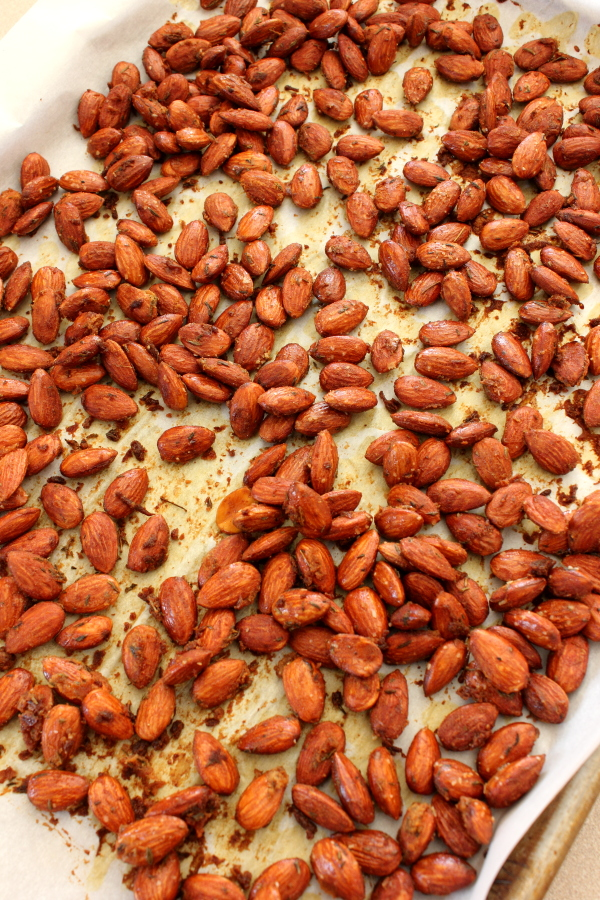 Honey-Mustard Thyme Roasted Almonds